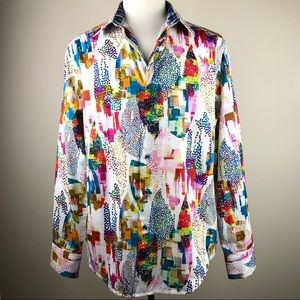 Robert Graham Avian Multi Color Sport Shirt Size L